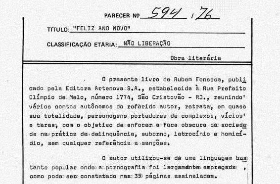 Censura é uma herança que não foi superada no Brasil